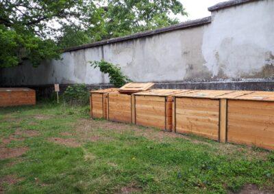 site de compostage de la ferme de la croix-rousse à lyon 4